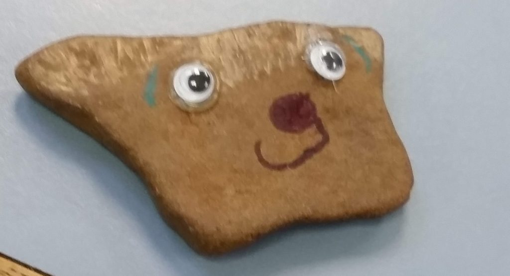 Dog pet rock