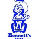 original Bennett's Village logo, child in chair with balloon