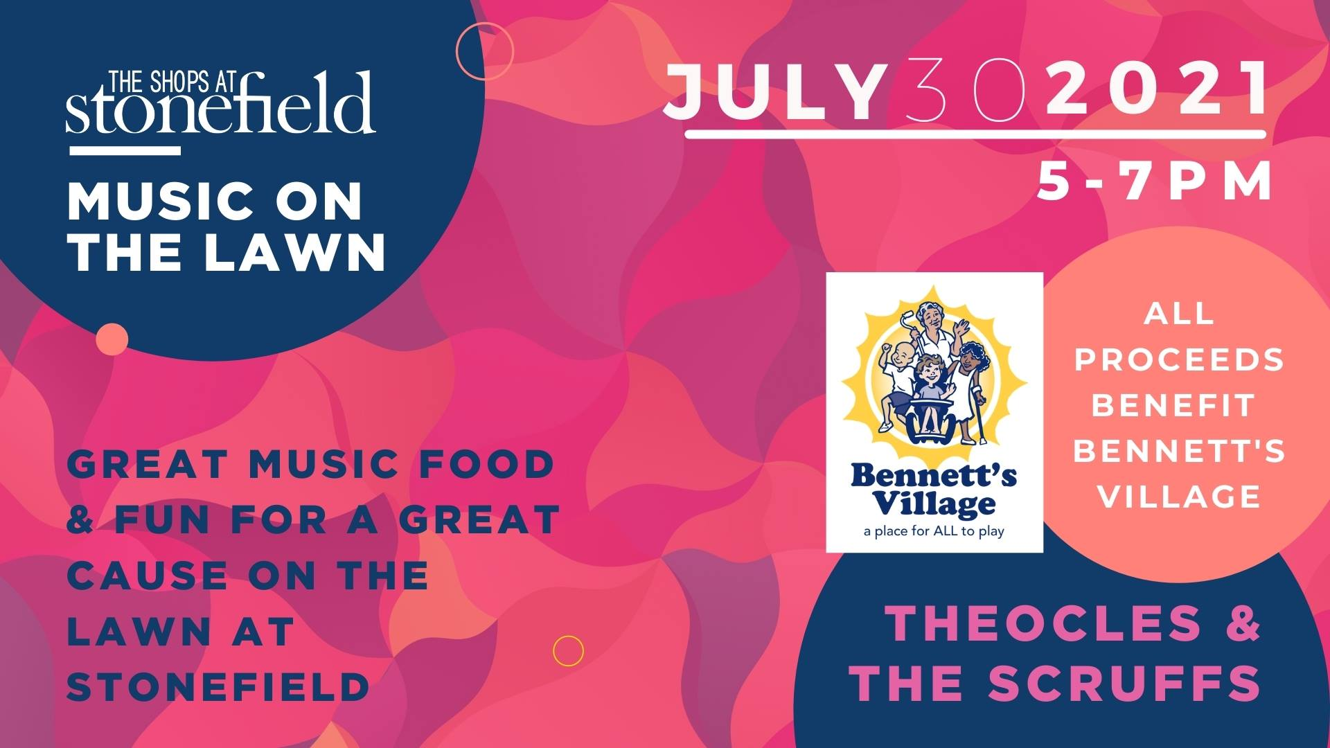 Advertisement for Bennett's Village event on July, 30, 2021